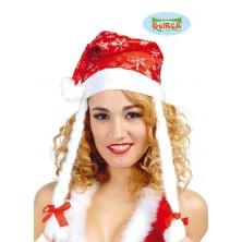 Vánoční čepice s copy