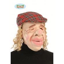 Maska stařec s čepicí