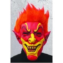 Maska čert s červenými vlasy