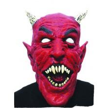 Maska čerta s rohama
