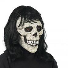 Maska lebka s vlasy ll