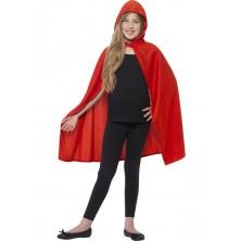 Dětský plášť s kapucí červený