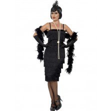 Kostým  charleston dlouhé šaty černé