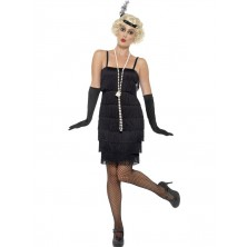 šaty charleston  Flapper krátké šaty černé