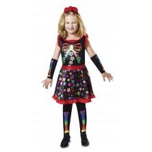 Dětský kostým na halloween Veselá kostlivka