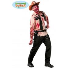 kostým na halloween - zombie šerif