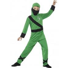 Dětský kostým Ninja zeleno-černý