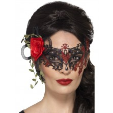 Škraboška kovová Day of the dead