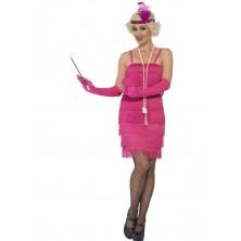 Kostým Flapper krátké, růžové
