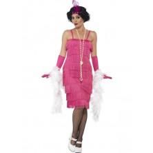 Kostým Flapper dlouhé, růžové
