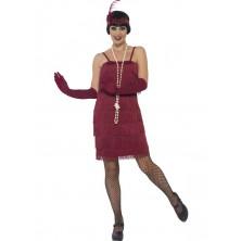 Kostým Flapper krátké, vínové