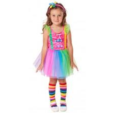 Klaunské dívčí šaty s čelenkou