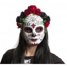 Maska obličejová Katrina s kytkami