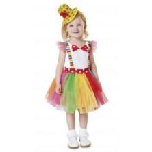 Dětské šaty klaun s kloboučkem