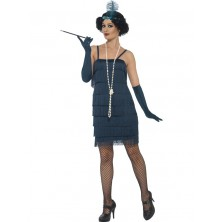 Kostým Flapper krátké, tmavomodré