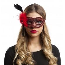 Škraboška Červená s pavučinou a peřím