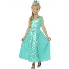 Dívčí karnevalový kostým Ledová princezna s korunkou