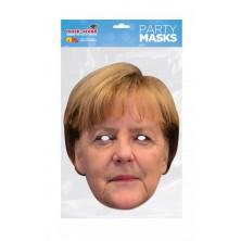 Papírová maska Angela Merkelová