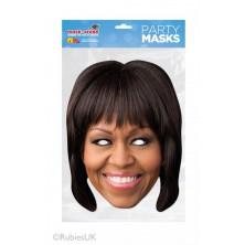 Papírová maska Michelle Obamová