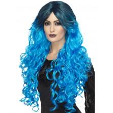 Paruka Gothic glamour modrá