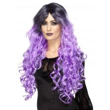 Paruka Gothic glamour fialová