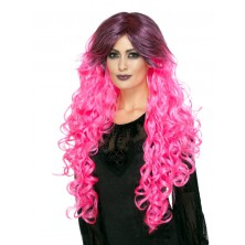 Paruka Gothic glamour růžová