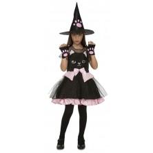Dětský kostým Čarodějnice kočka