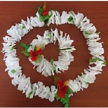 bílý sbatební havajský věnec+ náramek