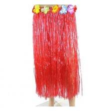 červená dlouhá havajská sukně 70cm