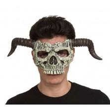 Obličejová maska Čert-lebka