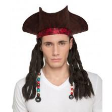 pirátský klobouk s dredy