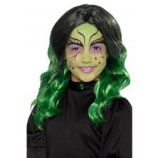 Dětská paruka Čarodějnice zelená