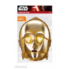 Papírová maska C-3PO