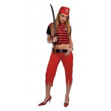 Kostým Pirátka Red