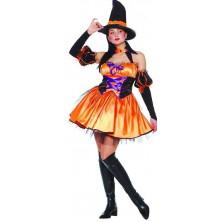 Karnevalový kostým oranžová Čarodějnice