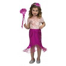 Dětský kostým Mořská panna růžová