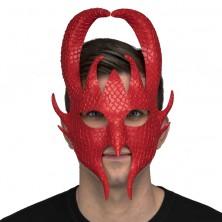 maska čert červená
