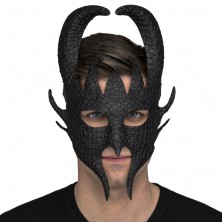 maska čert černá
