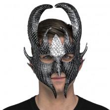 Maska Čert stříbrná