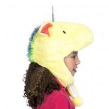 Dětská čepice Jednorožec žlutý