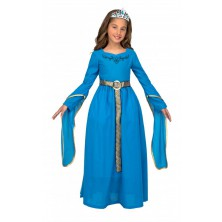 Dětský kostým Středověká princezna modrá