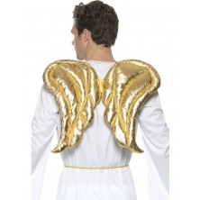 Křídla zlatá, polstrovaná 50 x 40 cm