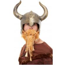 Pánská helma a vousy Viking