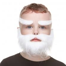 Dětský plnovous s obočím bílý