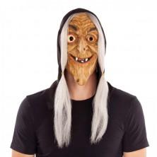 Maska Čarodějnice s vlasy a kapucí