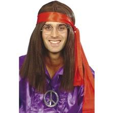 Paruka, šátek, přívěšek Hippiesák