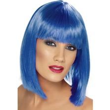 Paruka Glam modrá