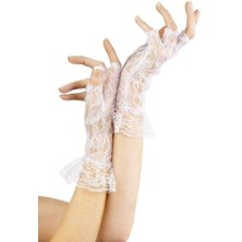 Krajkové rukavice bílé bez prstů