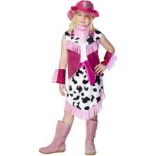 Dětský kostým Kovbojka pink