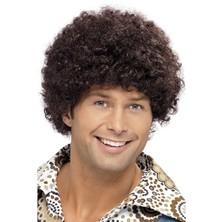 Paruka 70s Disco Dude hnědá
